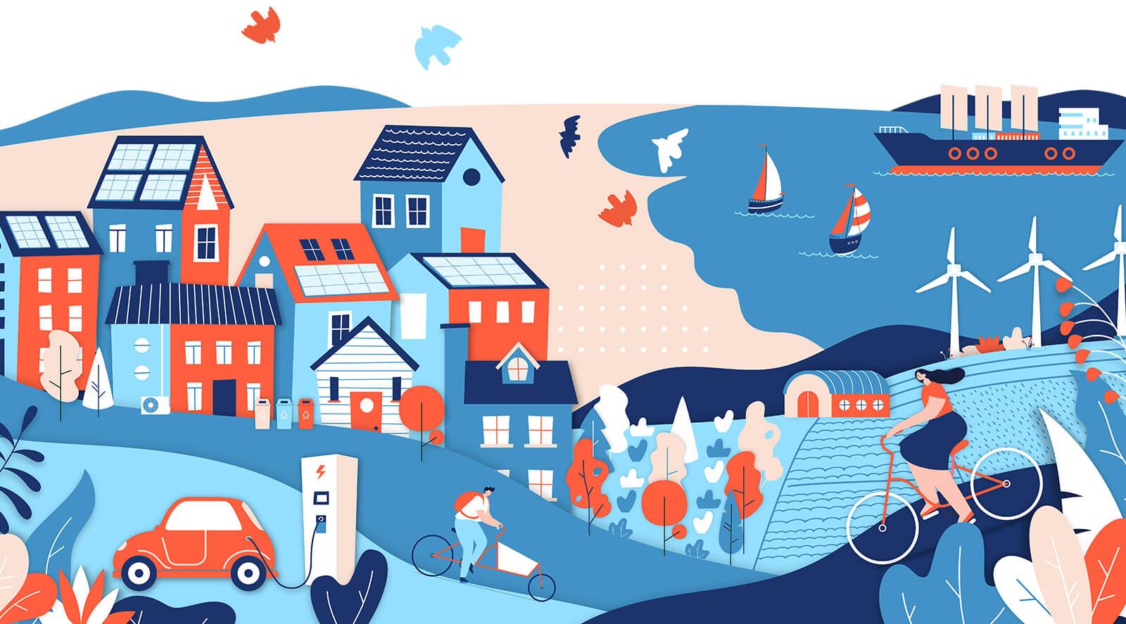 Climate Change Illustration